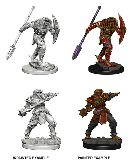 D&D Nolzurs Marvelous Unpainted Miniatures Dragonborn Fighter with Spear (He/Him/They/Them)