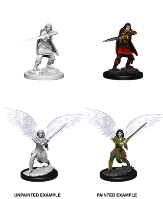 D&D Nolzurs Marvelous Unpainted Miniatures Female Aasimar Fighter
