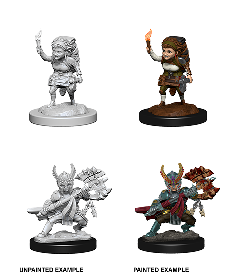 D&D Nolzurs Marvelous Unpainted Miniatures Female Halfling Fighter