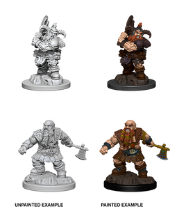 D&D Nolzurs Marvelous Unpainted Miniatures Male Dwarf Barbarian