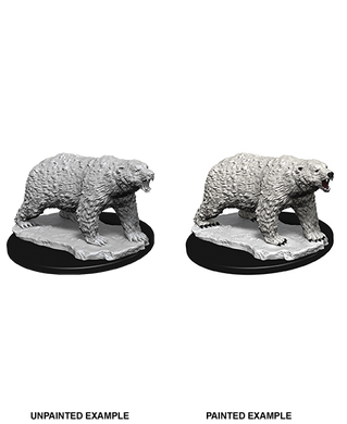 WizKids Deep Cuts Unpainted Miniatures Polar Bear