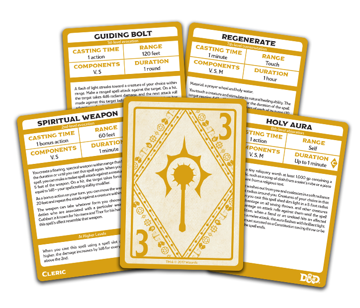 D&D: Spellbook Cards: Cleric Deck (149 Cards)