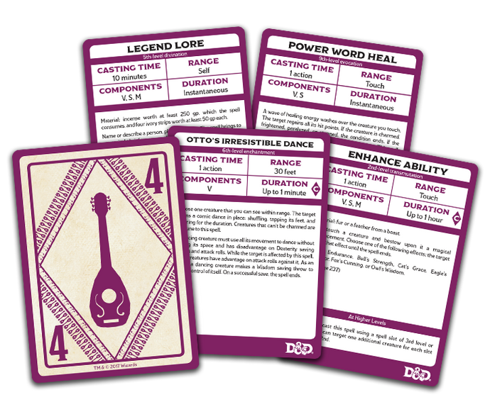 D&D: Spellbook Cards: Bard Deck (110 Cards)