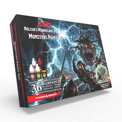 D&D Nozulr's Marvelous Pigments - Monster Paint Set (36 paints + 1 model)
