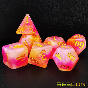 Bescon Dice: Rose Quartz Dice Set