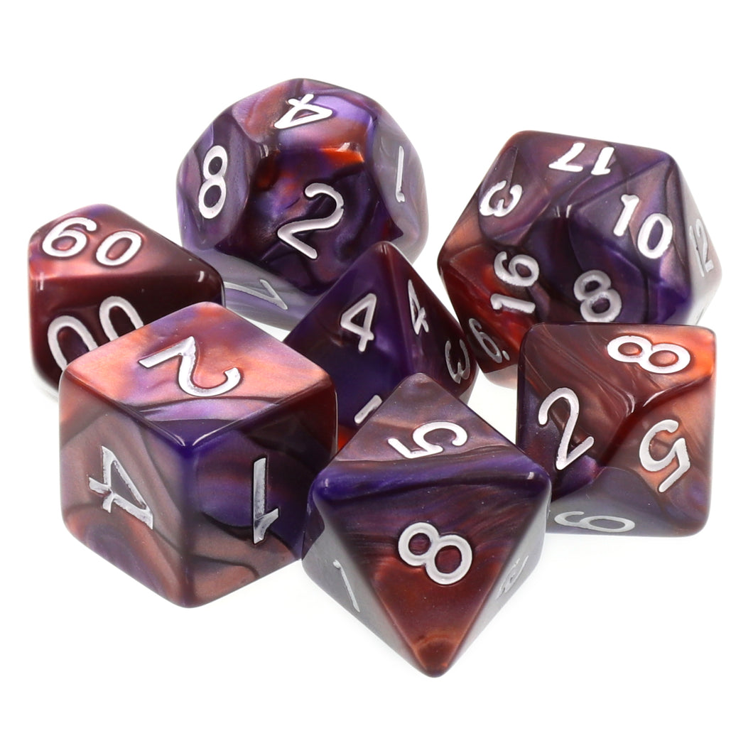 Udixi: Purple-Copper Blend Dice