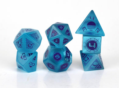 Level Up Dice: 80s Aqua Cat's Eye