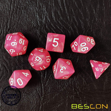 Bescon Dice: Peachy Moonstone
