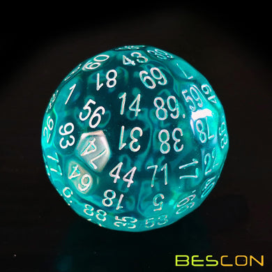 Bescon Dice: D100 (Translucent Teal)