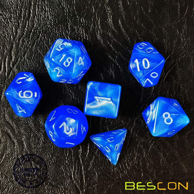 Bescon Dice: Dodgerblue Moonstone