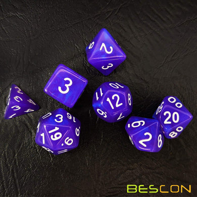 Bescon Dice: Purple Pearl Moonstone