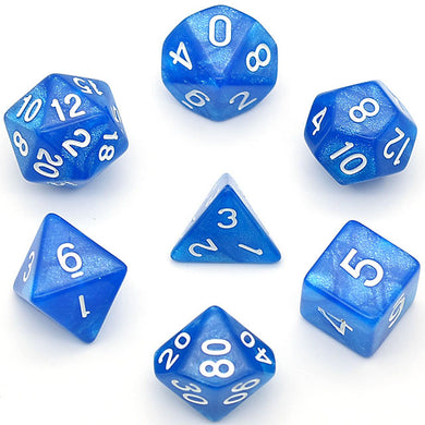 Udixi: Glitter Blue Marble Dice