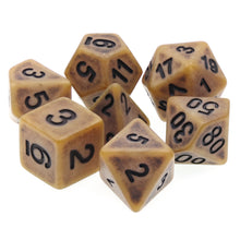 Load image into Gallery viewer, Gold Ancient Dice Set