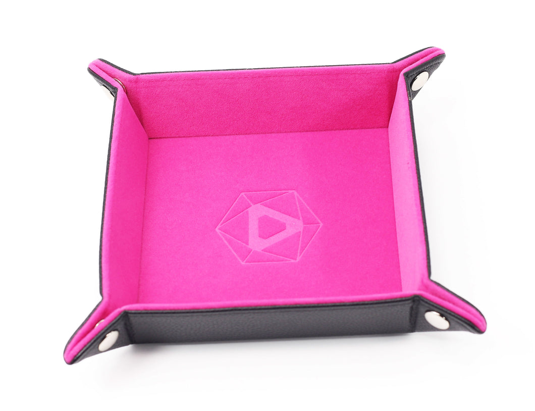 Die Hard Dice Folding Square Tray - Pink Velvet