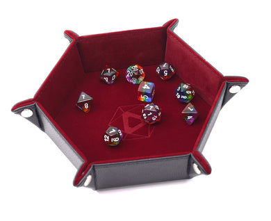 Die Hard Dice Folding Hex Tray - Red Velvet