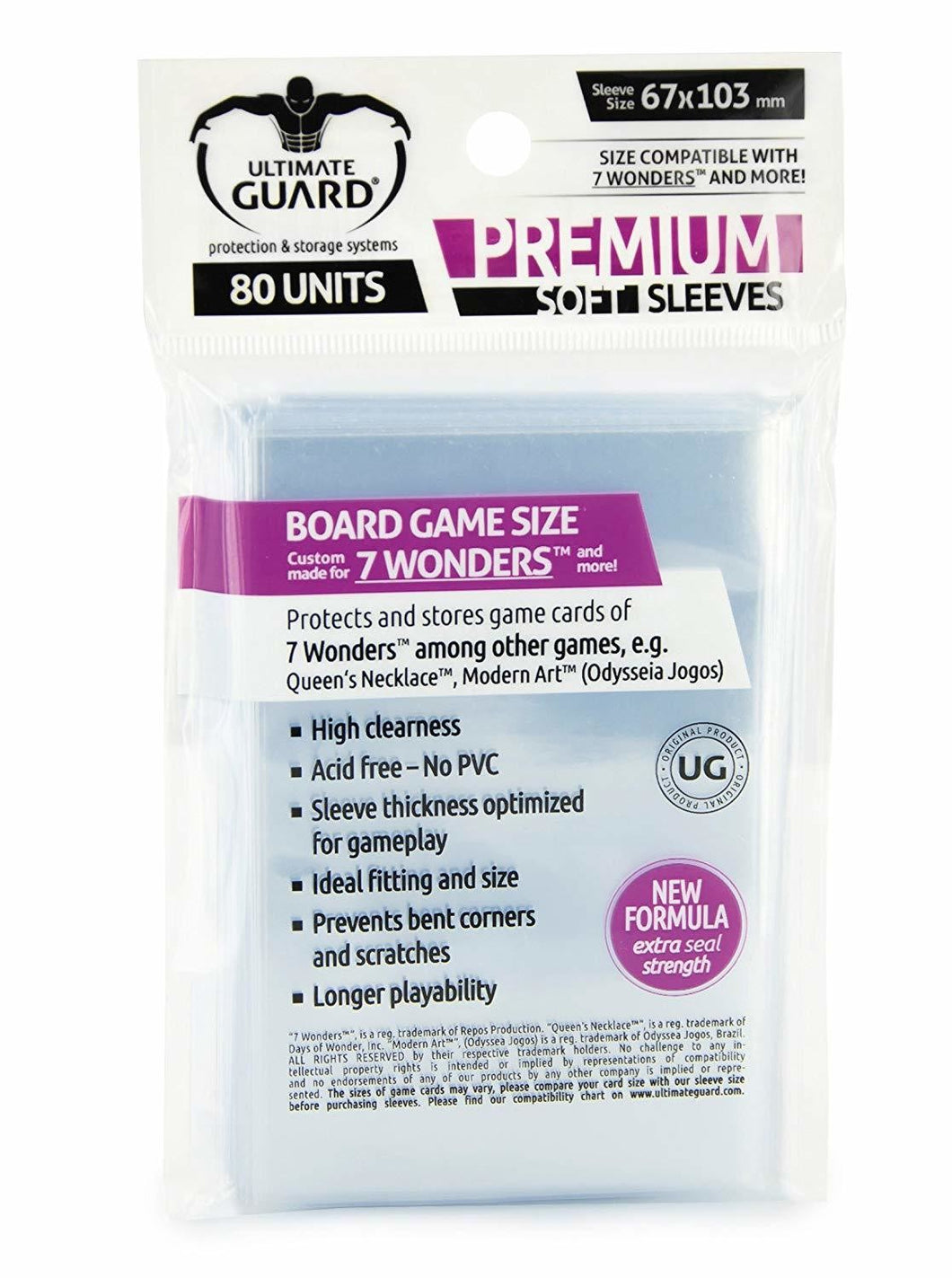 Ultimate Guard Premium Soft Sleeves 67x103