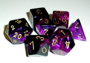 CHX26440: Gemini Black Purple/gold Polyhedral 7-Die Set