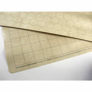Chessex Reversible Battlemat 1-inch Square & HEX (66cm x 60cm)
