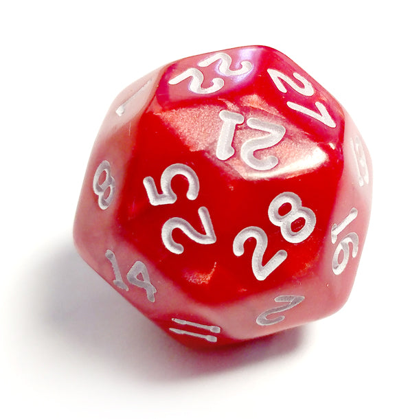 Single D30 Pearlescent Red/white