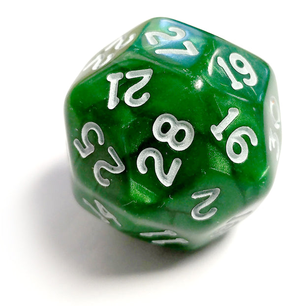 Single D30 Pearlescent Green/white