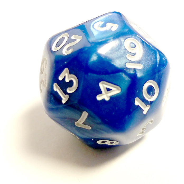 Single D30 Pearlescent Blue/white