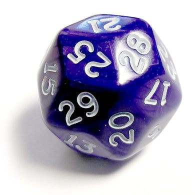 Single D30 Pearlescent Purple/white