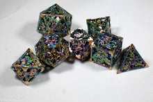 Load image into Gallery viewer, (Golden Rainbow) Deadly Dragon Dice: Shards of Oblivion Hollow Metal