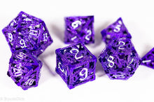 Load image into Gallery viewer, (Powerful Purple) Deadly Dragon Dice: Shards of Oblivion Hollow Metal