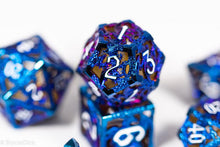 Load image into Gallery viewer, (Shimmering Blue) Deadly Dragon Dice: Shards of Oblivion Hollow Metal