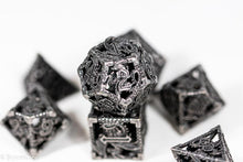 Load image into Gallery viewer, (Grey) Deadly Dragon Dice: Shards of Oblivion Hollow Metal