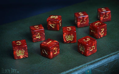 Elder Dice (d6 Tube) - Red Cthulhu