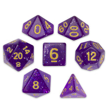 Load image into Gallery viewer, Midnight Nebula Set of 7 Polyhedral Dice