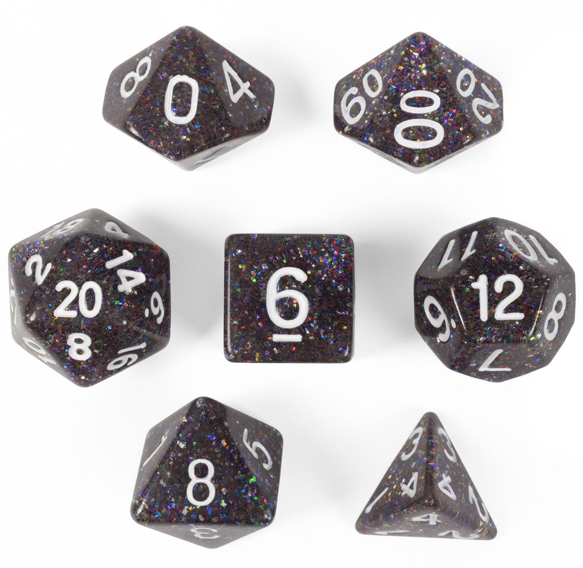 Sparklier Vomit Set of 7 Polyhedral Dice