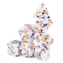 Load image into Gallery viewer, Cookies & Cream Polyhedral Dice Set