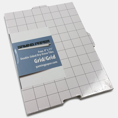 Gaming Paper: Set of 4 Gaming Paper Tiles 8x11 Grid/Grid