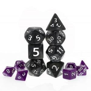 HD Dice Black Giant Pearl Dice