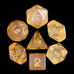 HD Dice Orange Iridescent Dice Set