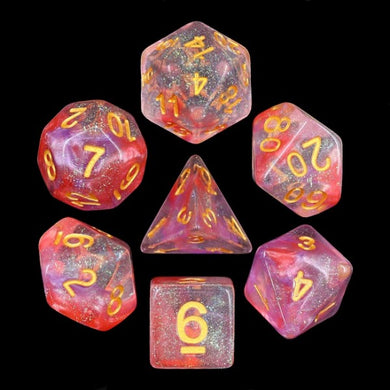 HD Dice Luminous Ruby Dice Set