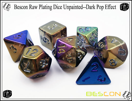 Bescon Dice: Dark Pop Plated Set