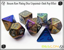 Load image into Gallery viewer, Bescon Dice: Dark Pop Plated Set