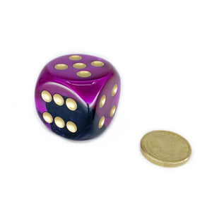 Single D6 30mm w/pips Gemini Black-Purple/gold