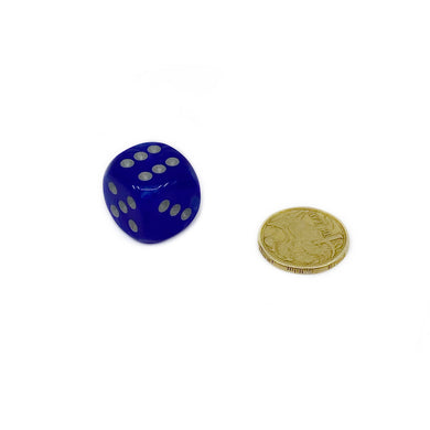 Single D6 20mm w/pips Velvet Blue/silver (out of print)