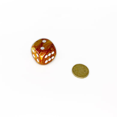 Single D6 30mm w/pips Lustrous Bronze/white (out of print)