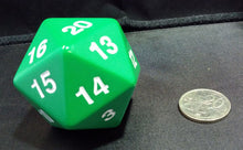 Load image into Gallery viewer, Koplow Super Jumbo 55mm D20 Countdown Die - Green
