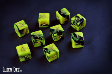 Elder Dice (d6 Tube) - Yellow Sign