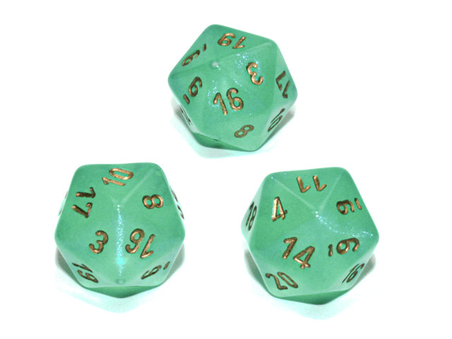 CHXPB2075: Single D20 Borealis Luminary Light Green/gold