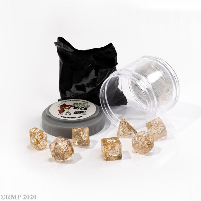 Reaper: Boss Dice - Glitter Gold (Pizza Dungeon Dice)