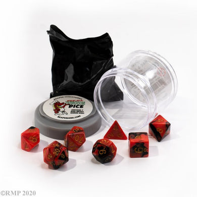 Reaper: Dual Dice - Red & Black (Pizza Dungeon Dice)