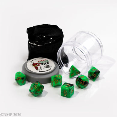 Reaper: Dual Dice - Green & Black (Pizza Dungeon Dice)