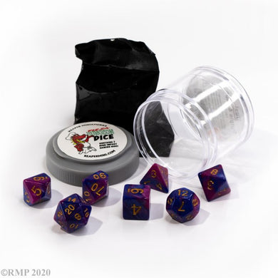 Reaper: Dual Dice - Purple & Blue (Pizza Dungeon Dice)